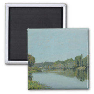 Alfred Sisley   The Seine at Bougival Square Magnet