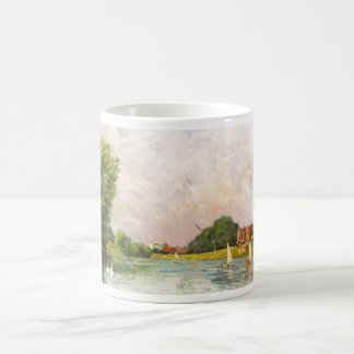 Alfred Sisley - Themse bei Hampton Court 1874 Classic White Coffee Mug