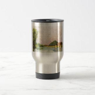 Alfred Sisley - Themse bei Hampton Court 1874 Stainless Steel Travel Mug