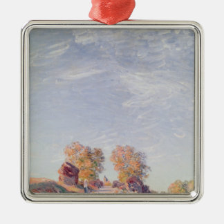 Alfred Sisley | Uphill Road in Sunshine Christmas Ornament