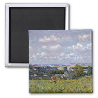 Alfred Sisley | Valley of the Seine at St-Cloud Square Magnet