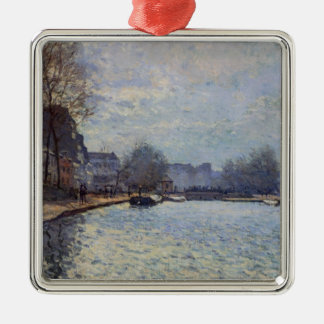 Alfred Sisley | View of the Canal St-Martin, Paris Christmas Ornament