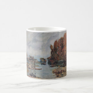 Alfred Sisley Wäscherinnen von Bougival 1875 Oil Basic White Mug
