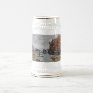 Alfred Sisley Wäscherinnen von Bougival 1875 Oil Beer Steins