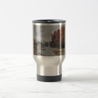 Alfred Sisley Wäscherinnen von Bougival 1875 Oil Stainless Steel Travel Mug