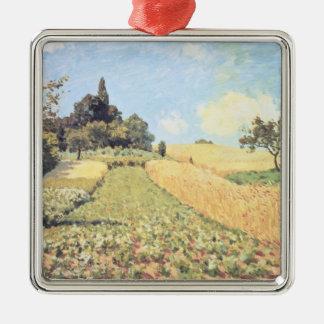 Alfred Sisley   Wheat Field Christmas Ornament