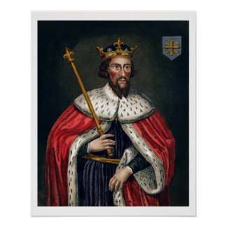 Alfred the Great (849-99), after a painting in the Poster