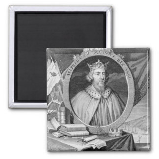 Alfred the Great (849-99) King of Wessex, engraved Fridge Magnets
