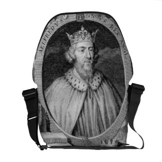 Alfred the Great (849-99) King of Wessex, engraved Courier Bag