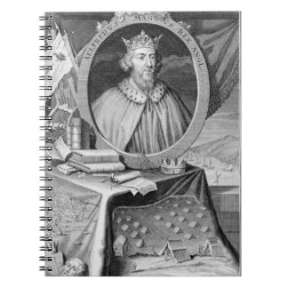 Alfred the Great (849-99) King of Wessex, engraved Spiral Notebook