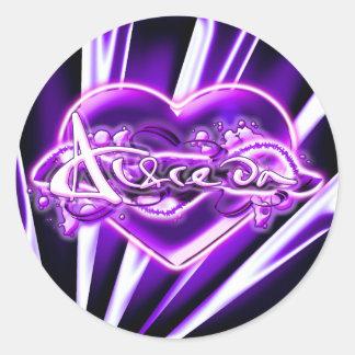 Alfreda Round Sticker