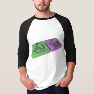 Alga as Al Aluminium  and Ga Gallium T-shirt