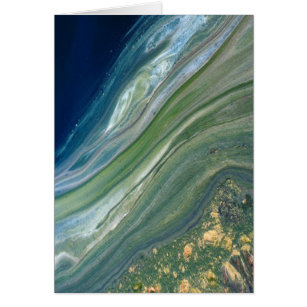 Algal scum on treated wastewater