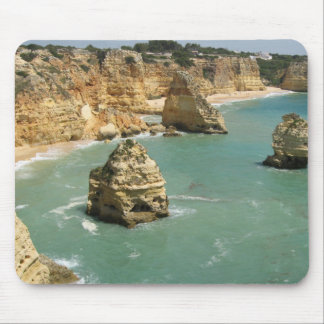 Algarve, Portugal, Benagil beach and rocks Mouse Pad