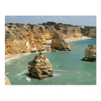 Algarve, Portugal, Benagil beach and rocks Postcard