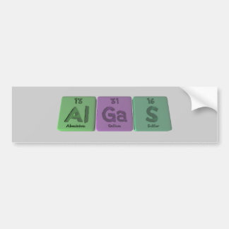Algas-Al-Ga-S-Aluminium-Gallium-Sulfur Car Bumper Sticker