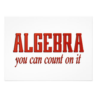 Algebra Count On It Personalized Announcement