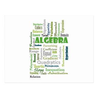 Algebra_Display_Green Postcard