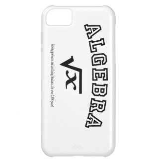 ALGEBRA: Solving problems and confusing students. iPhone 5C Case