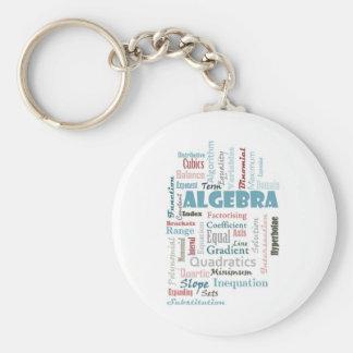 Algebra Vocabulary Basic Round Button Key Ring