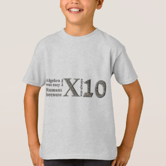 Algebra was easy for the Romans because ... T-Shirt