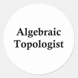 algebraic topologist classic round sticker