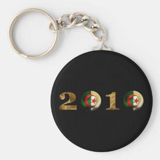 Algeria 2010 basic round button key ring