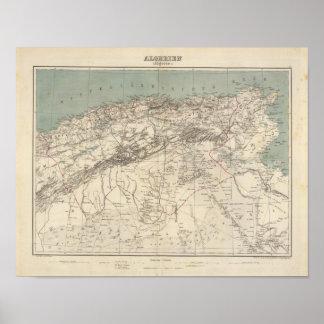 Algeria Atlas Map Poster