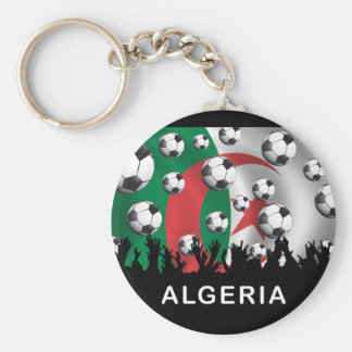 Algeria Basic Round Button Key Ring