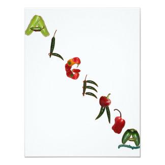 Algeria Chili Peppers 11 Cm X 14 Cm Invitation Card