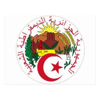 Algeria Coat of arm  DZ Postcard