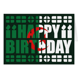 Algeria Flag Birthday Card