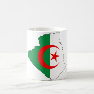 Algeria flag map DZ Coffee Mug