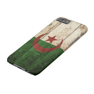 Algeria Flag on Old Wood Grain Barely There iPhone 6 Case