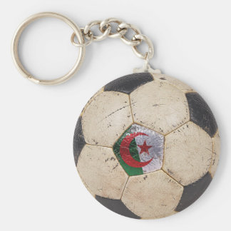 Algeria Football Basic Round Button Key Ring