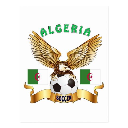 Algeria Football Designs Postcard