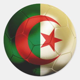 Algeria Football Round Sticker