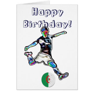 Algeria Football soccer birthday card