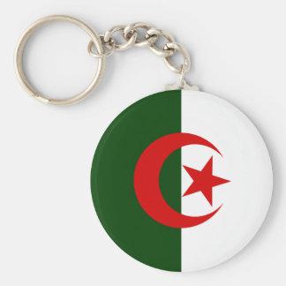 Algeria High quality Flag Basic Round Button Key Ring
