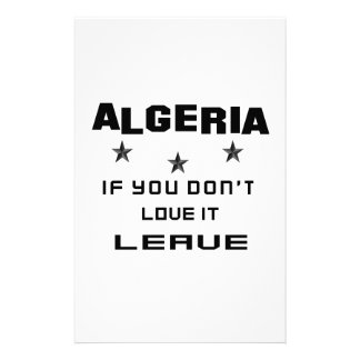 Algeria If you don't love it, Leave Personalised Stationery