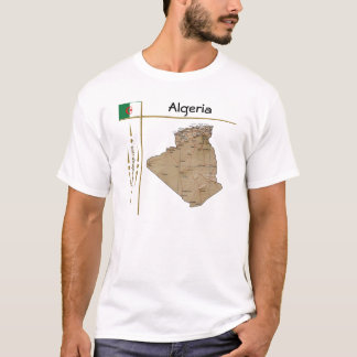 Algeria Map + Flag + Title T-Shirt