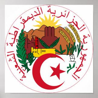 Algeria National Emblem Poster