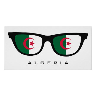 Algeria Shades custom text & color poster