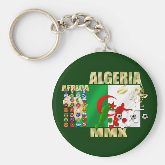 Algeria Soccer Football MMX Africa 2010 gifts Basic Round Button Key Ring
