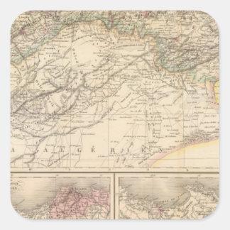 Algeria, Tunisia Square Sticker