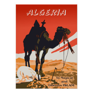 Algeria vintage travel poster