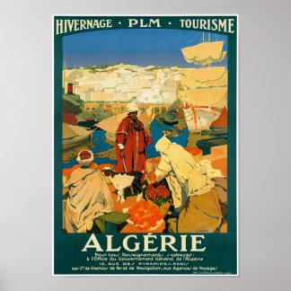 Algeria Vintage Travel Poster Restored