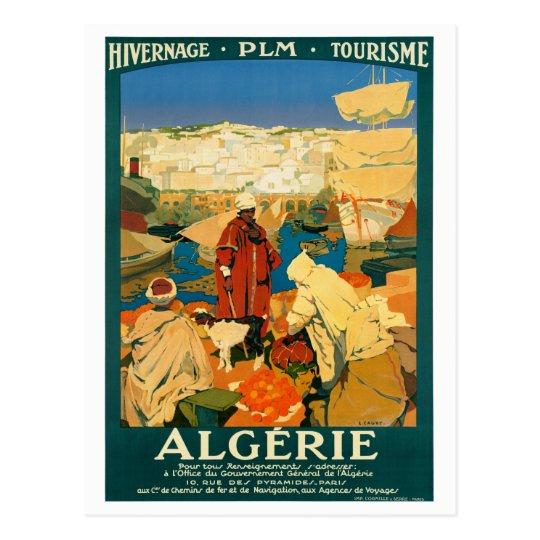 Algeria Vintage Travel Poster Restored Postcard