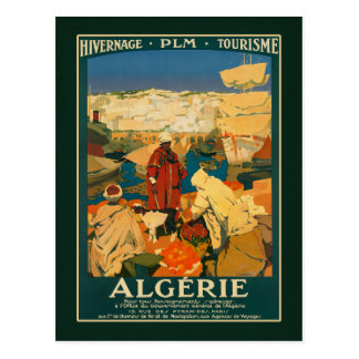 Algeria Vintage Travel Tourism Ad Postcard