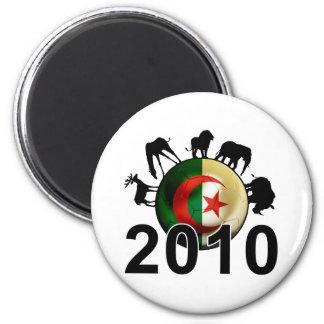 Algeria World 2010 6 Cm Round Magnet